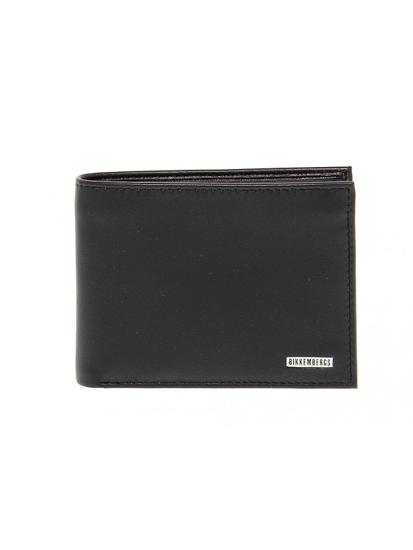 Wallet Bikkembergs WALLET METAL PLATE in leather