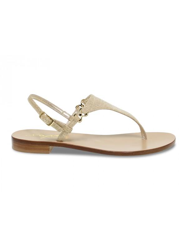 Flat sandals Capri POSITANO in platinum glitter