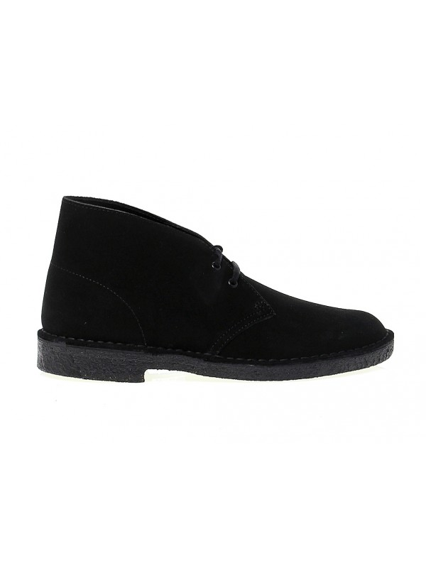Low boot Clarks DESERT BOOT in black suede leather