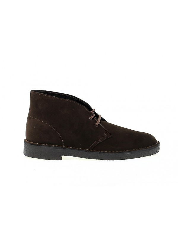Low boot Clarks DESERT BOOT in brown suede leather