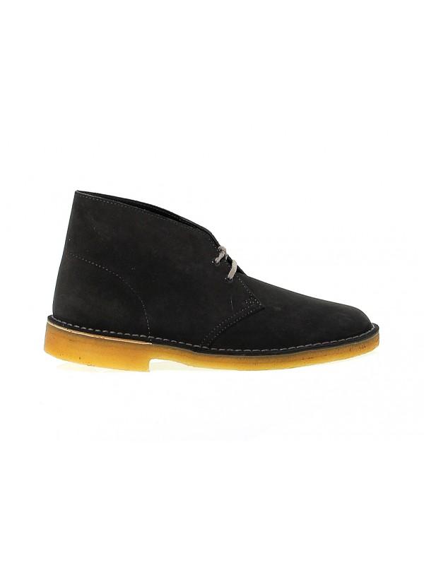 Low boot Clarks DESERT BOOT in dark gray suede leather