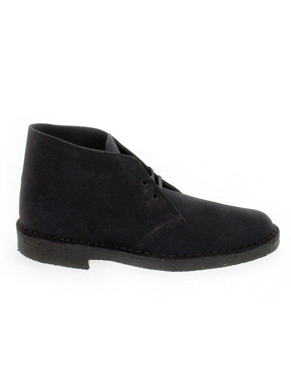 Low boot Clarks DESERT BOOT in navy suede leather