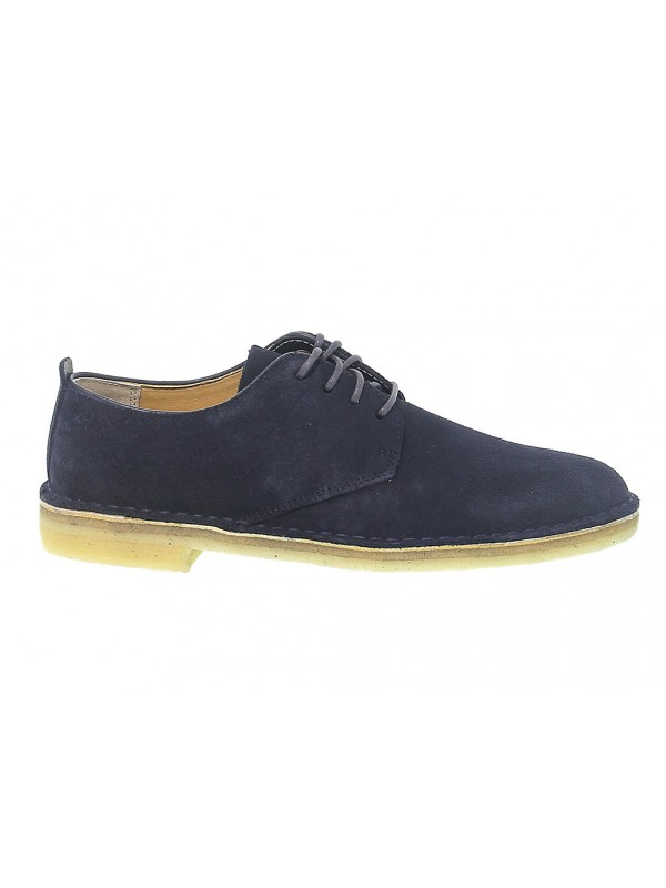 Lace-up shoes Clarks DESERT LONDON in blue suede leather