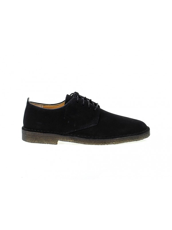 Lace-up shoes Clarks DESERT LONDON in black suede leather