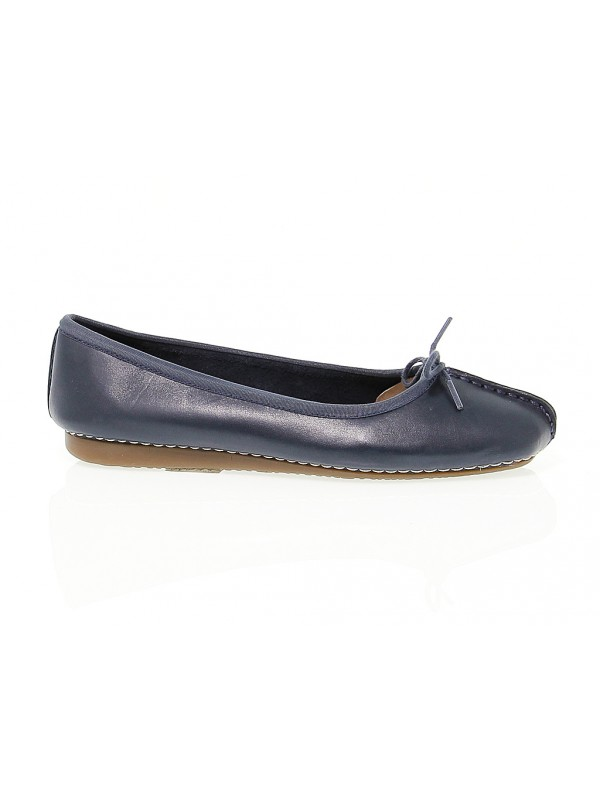 Flat shoe Clarks FRECKLE ICE in blue leather