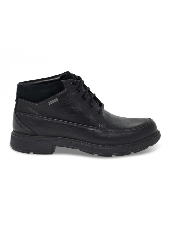 Low boot Clarks GORETEX in black leather