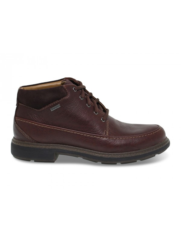 Low boot Clarks GORETEX in dark brown leather