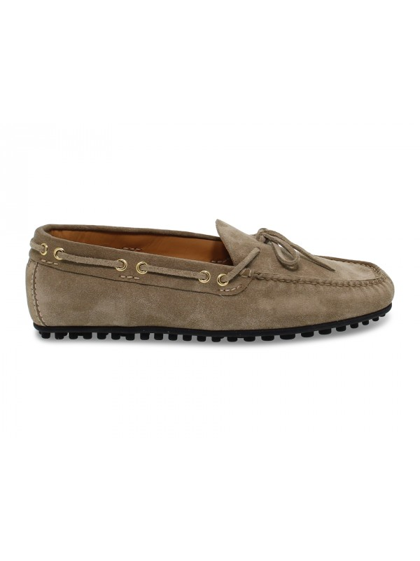 Loafer Fabi CAR SHOES in sand suede leather