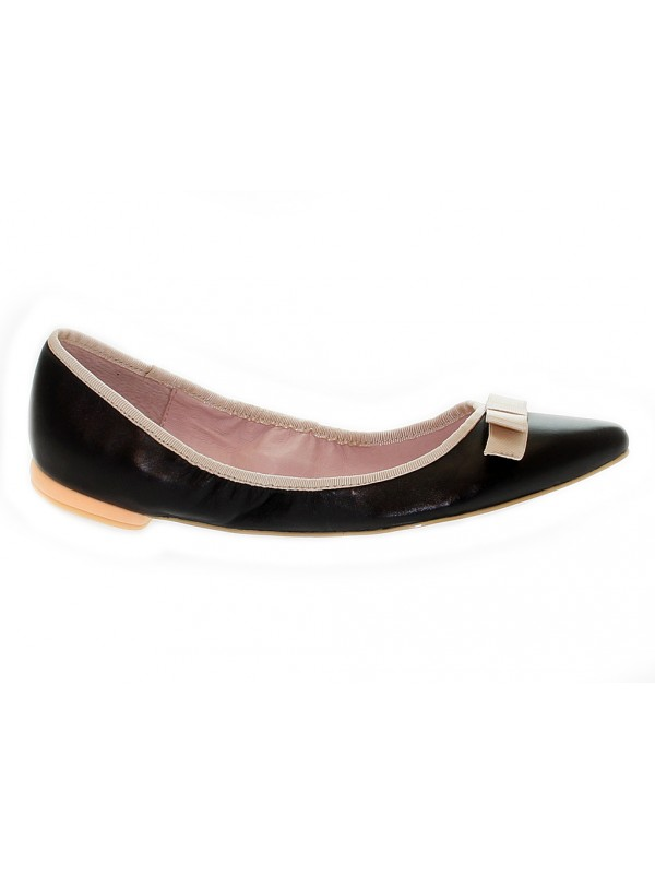 Flat shoe Fornarina in leather