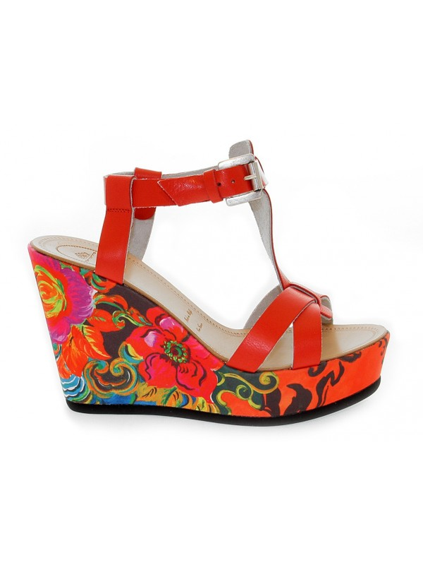 Heeled sandal Fornarina in leather