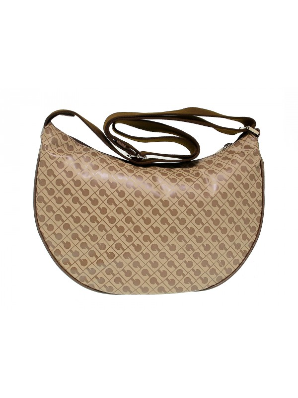 Shoulder bag Gherardini SOFTY in brown fabric