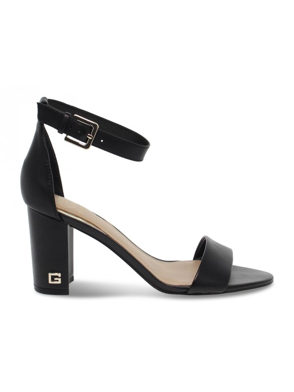 Heeled sandal Guess in black leather