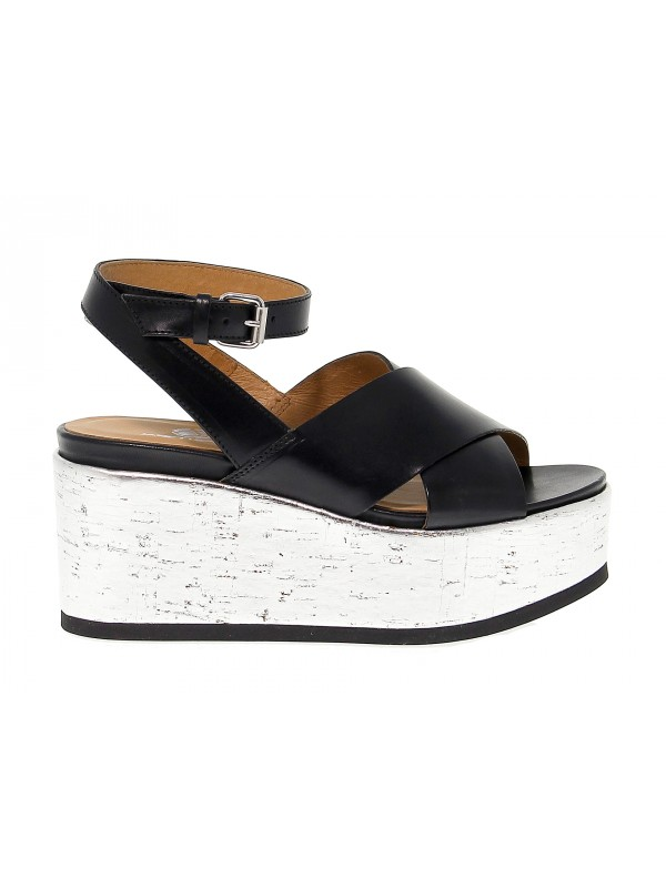 Heeled sandal Janet Sport PAPAYA in leather