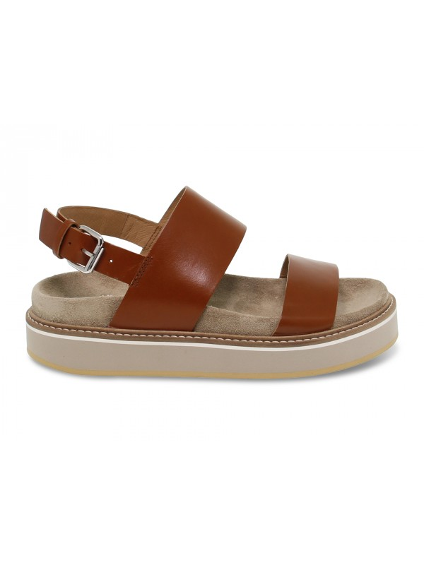 Flat sandals Janet Sport in leather leather