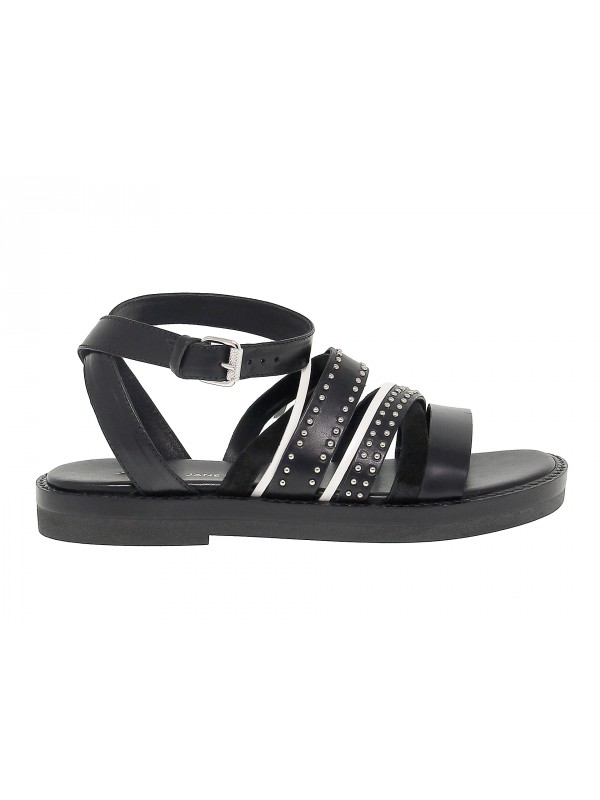Flat sandal Janet And Janet in leather