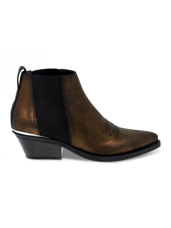 Ankle boot Janet And Janet TEXANO in bronze laminate