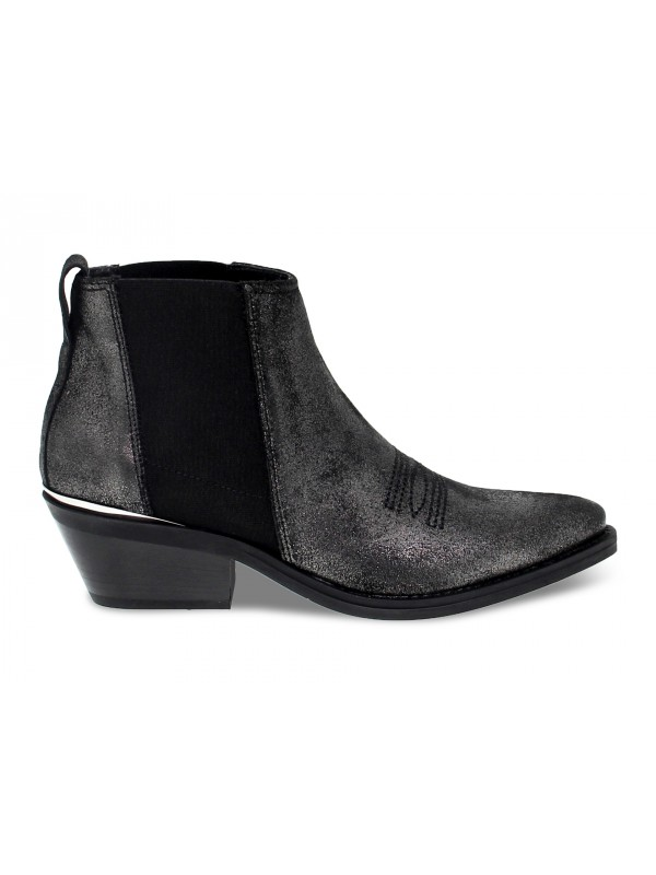 Ankle boot Janet And Janet TEXANO in gunmetal laminate