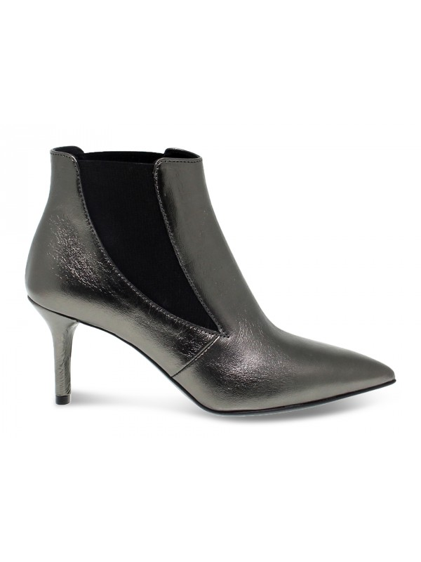 Ankle boot Janet And Janet in gunmetal laminate