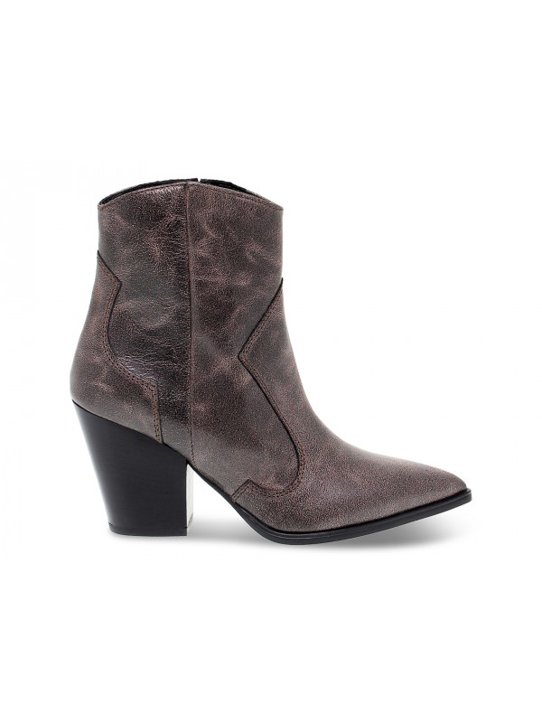 Ankle boot Janet And Janet TEXANO in brown leather