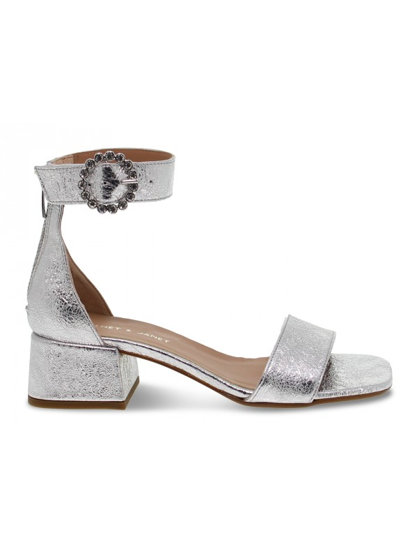 Flat sandals Janet And Janet in silver laminate