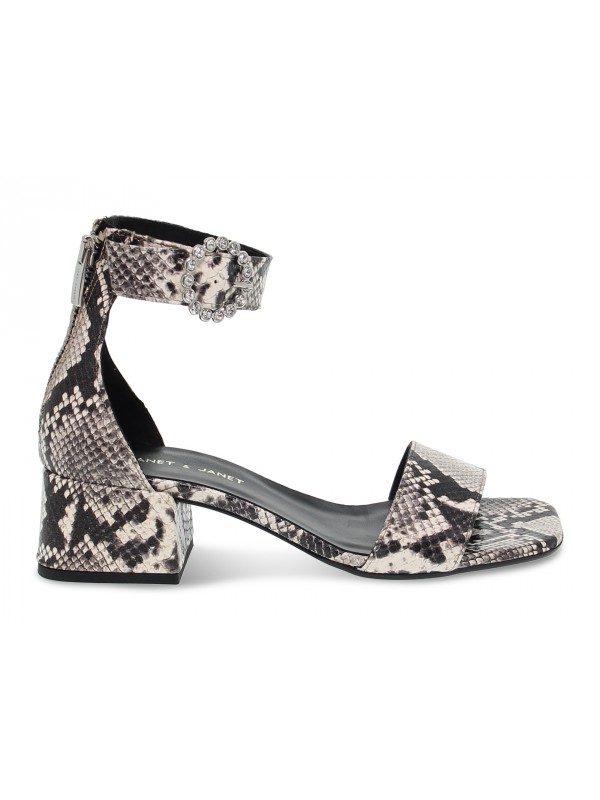Flat sandals Janet And Janet in rock python