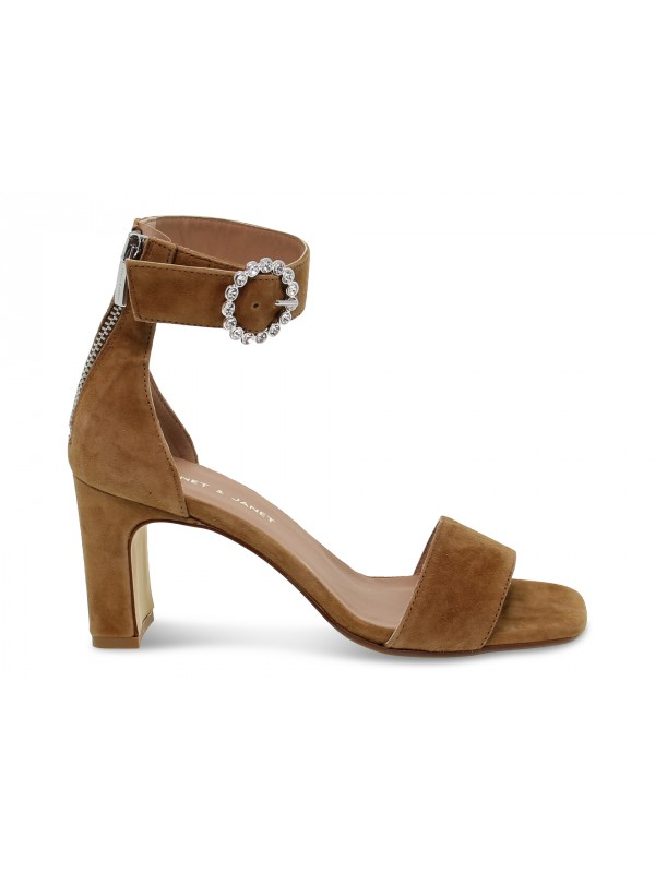 Heeled sandal Janet And Janet in leather suede leather