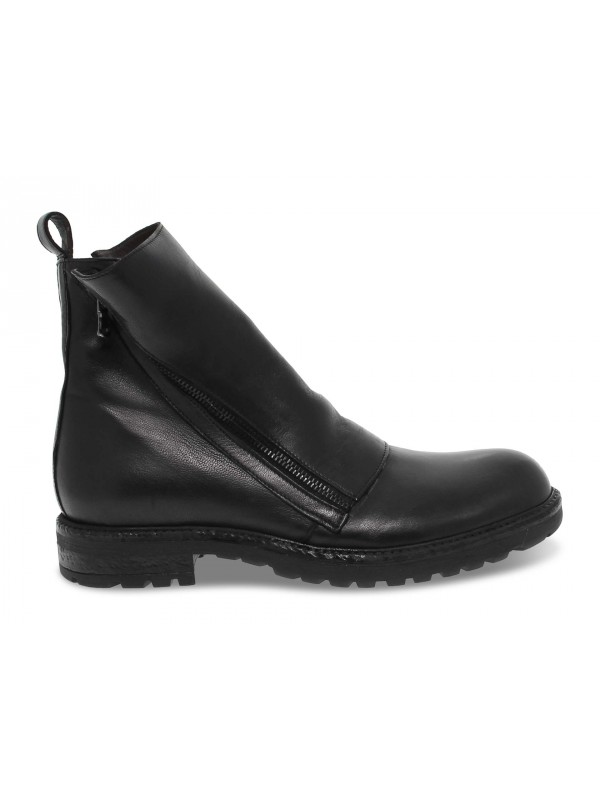 Low boot Jp David in black leather