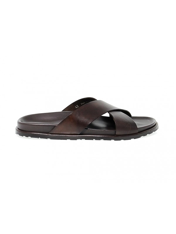 Sandal Leo Pucci in dark brown leather
