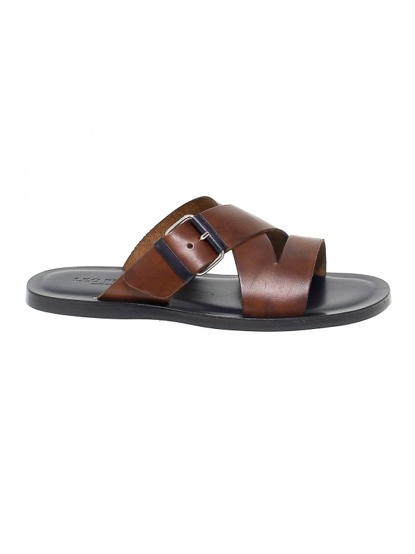 Sandal Leo Pucci in brown leather