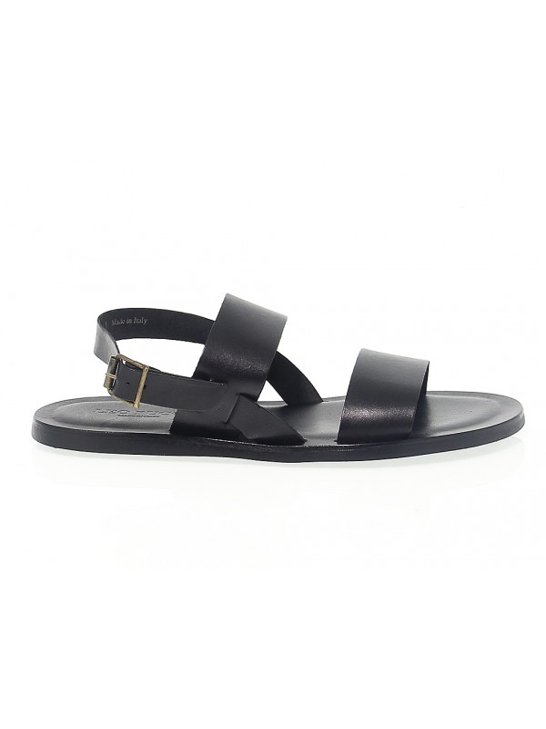 Sandal Leo Pucci in black leather