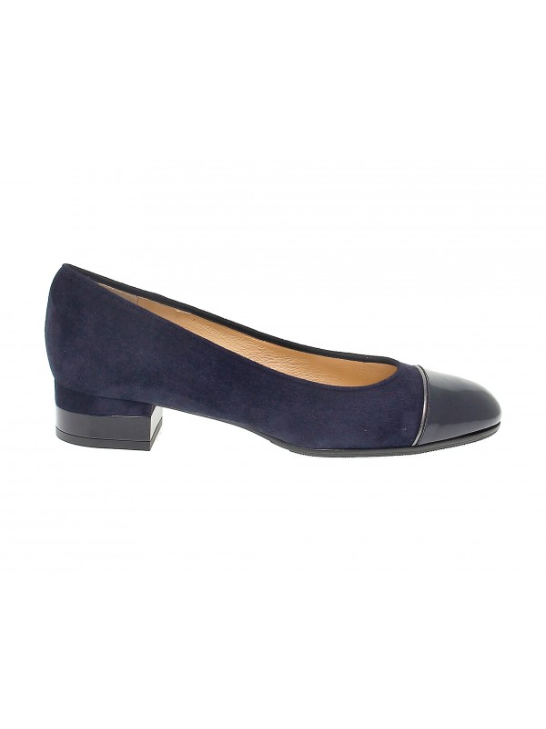 Pump Martina in blue suede leather
