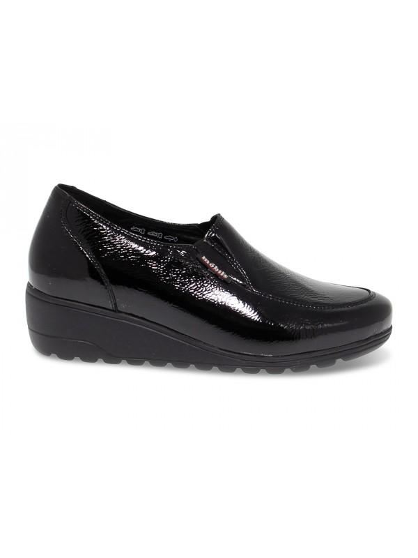 Flat shoe Mephisto BERTRANE MOBILS ERGONOMIC in black paint