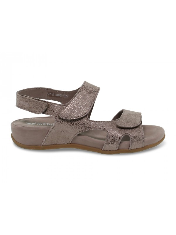 Flat sandals Mephisto JULIET ARTIC in taupe nubuck
