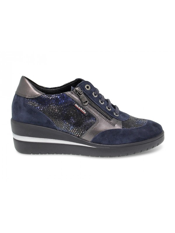 Flat shoe Mephisto PATRIZIA MOBILS ERGONOMIC in blue suede leather