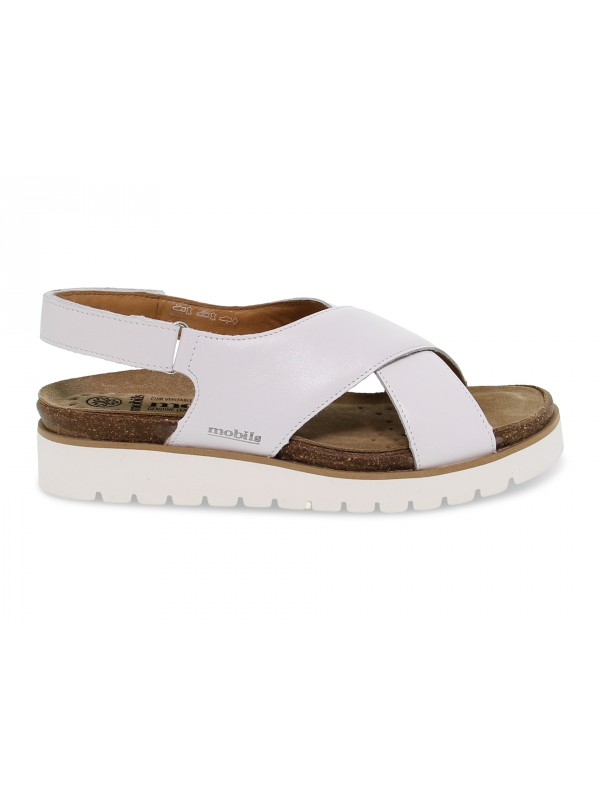Flat sandals Mephisto TALLY SOFTY MOBILS ERGONOMIC in white leather