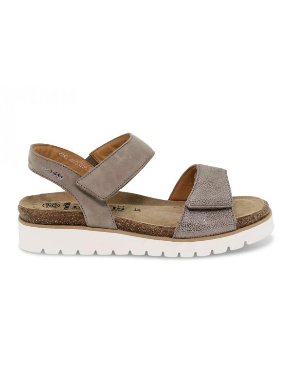 Flat sandals Mephisto THELMA ARTIC MOBILS ERGONOMIC in taupe nubuck