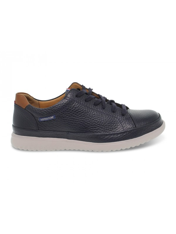 Lace-up shoes Mephisto THOMAS OREGON in blue leather