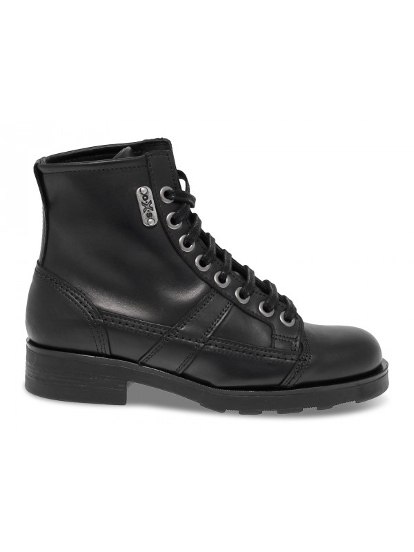 Low boot OXS FRANK 1901 in black leather
