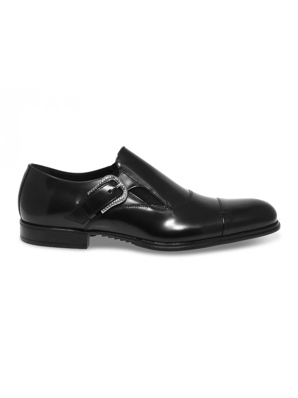 Laceless Cesare Paciotti in black brushed