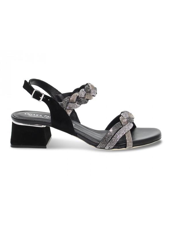 Flat sandals Pasquini Calzature in black suede leather