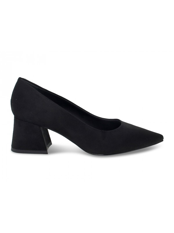 Pump Pollini in black suede leather