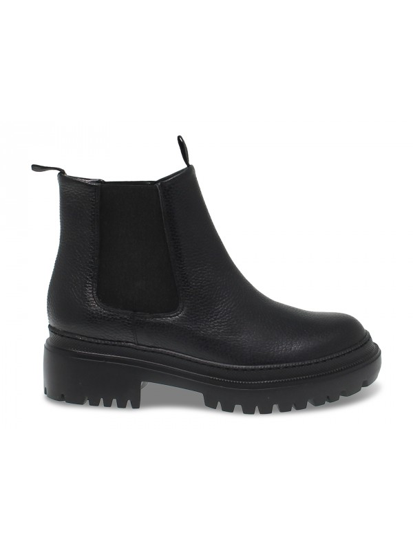 Ankle boot Pollini BEATLES in black leather