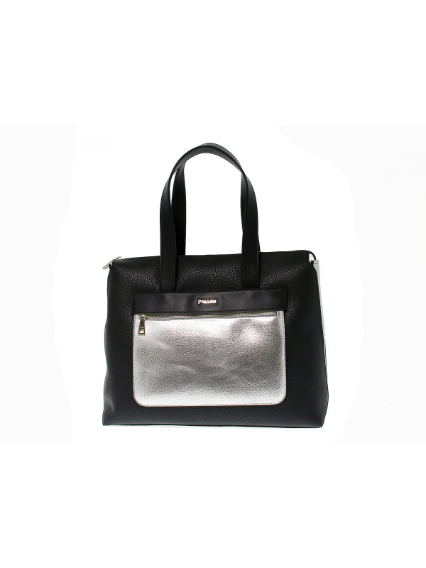 Tote bag Pollini in leather