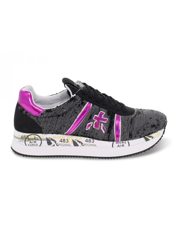 Sneakers Premiata CONNY in black sequins