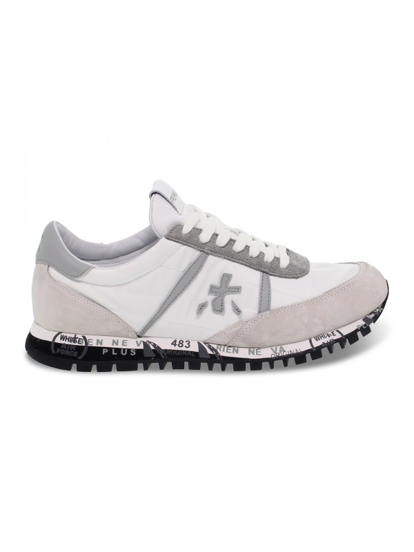Sneakers Premiata SEAN in white nylon