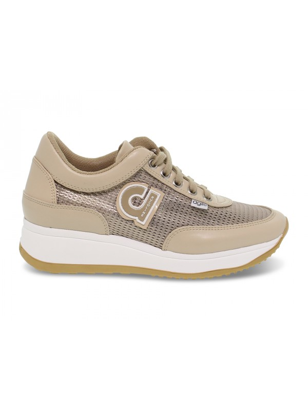 Sneakers Ruco Line AGILE AUDREY in beige leather