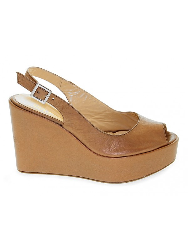 Wedge San Crispino in leather