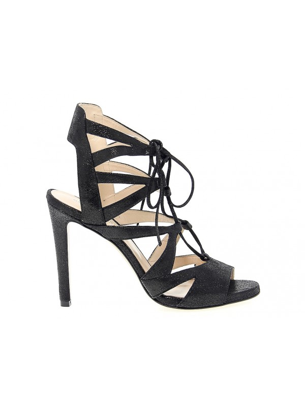 Heeled sandal Guido Sgariglia in leather
