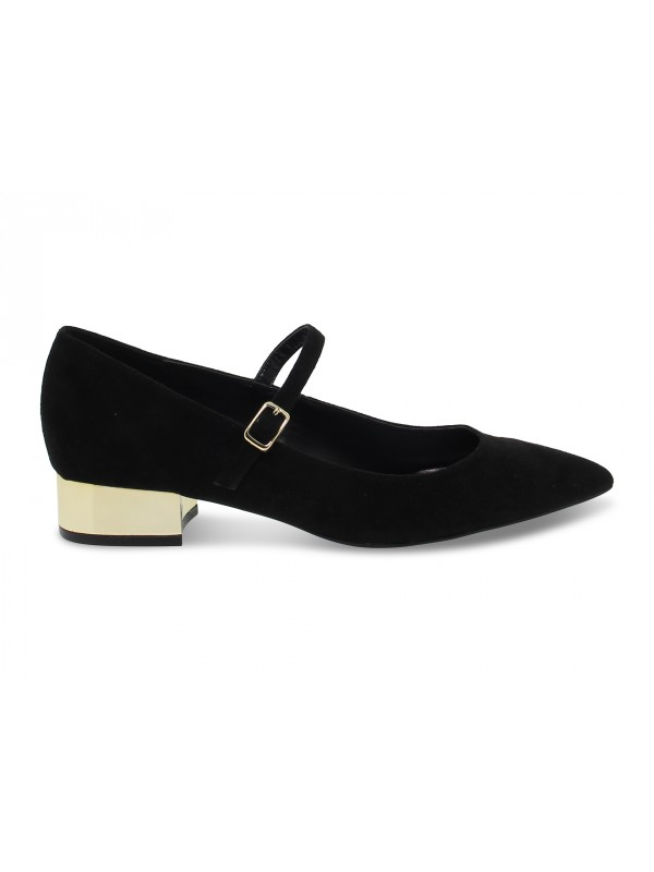 Flat shoe Steve Madden PENNY BLACK SUEDE in black suede leather