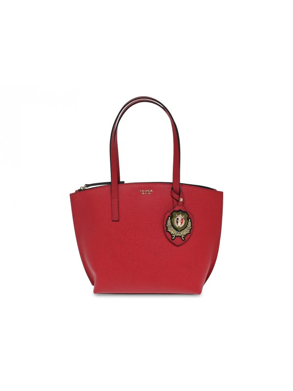 Tote bag Tosca Blu VIOLA MEDIUM BAG in red leather